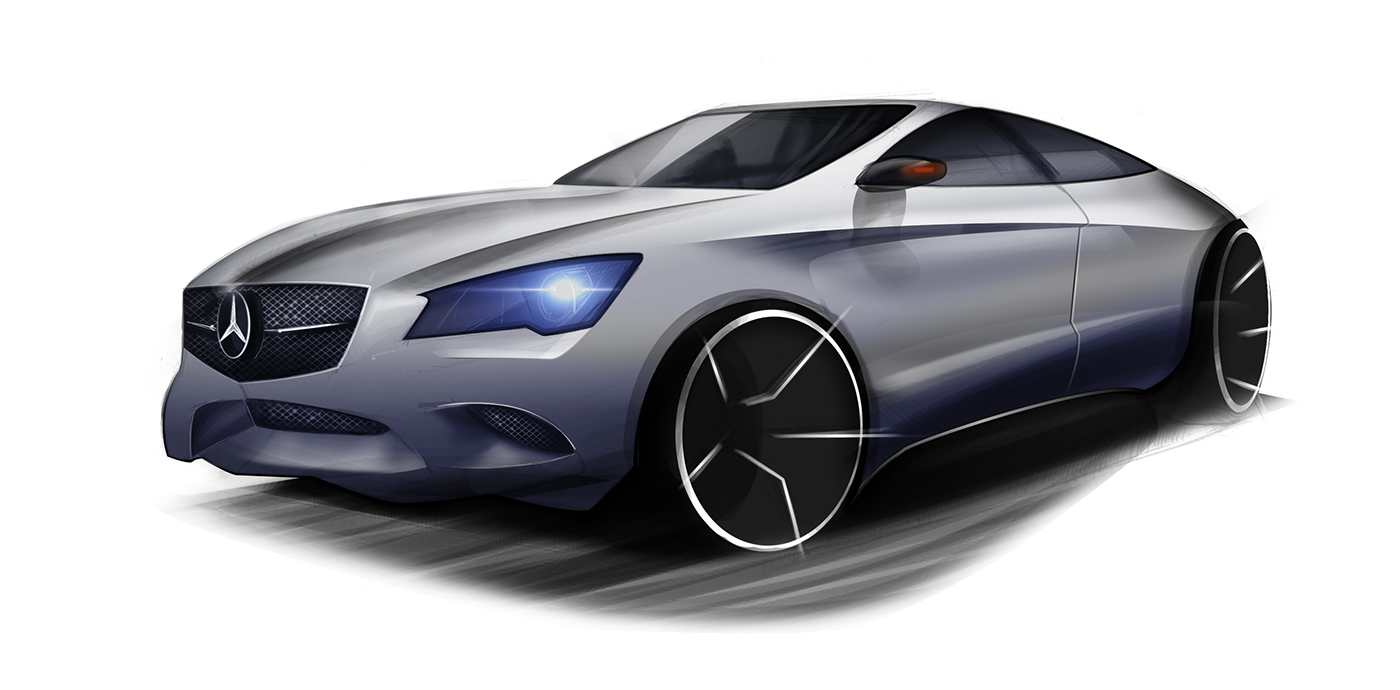 sketch design wacom cintiq car concept