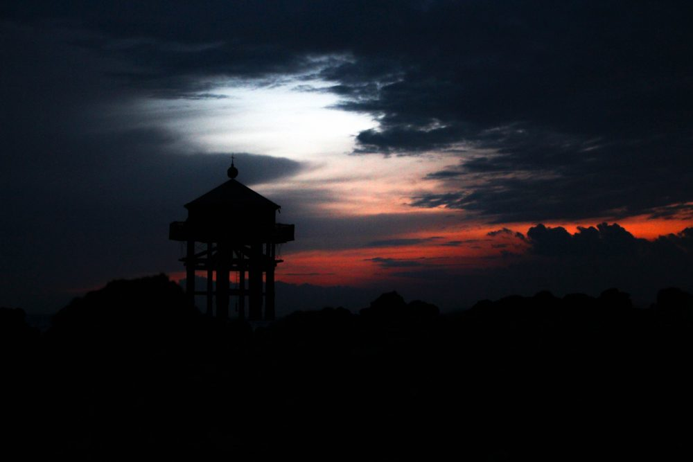 Ciel rouge coucher de soleil