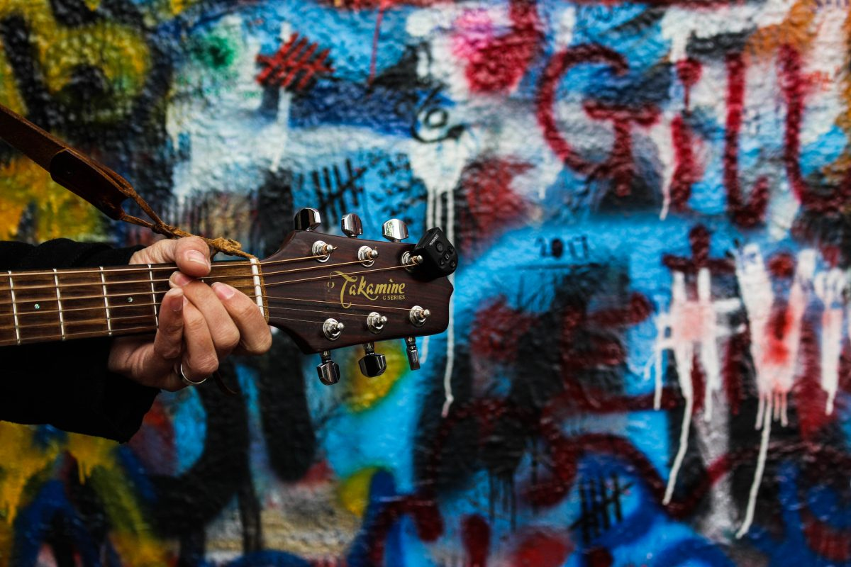 guitare prague jonh lenon wall