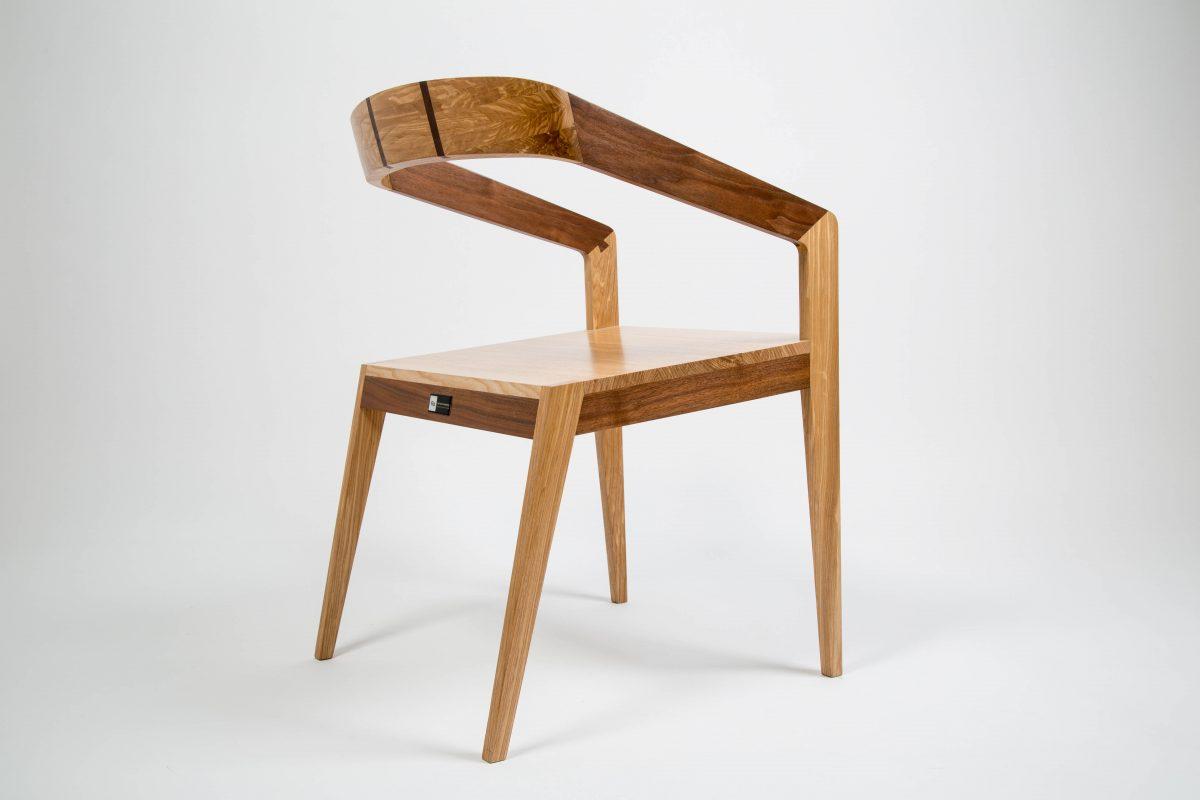Dovetail chair design woodworking franck grossel ébénisterie artisanat flo thailande